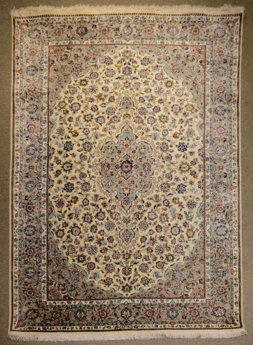 1212 PERSIAN Kashan SILK FALLAH4.6 X  6.8