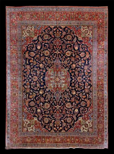 1313 PERSIAN VINTAGE FINE KASHAN 10.4 X 14.2