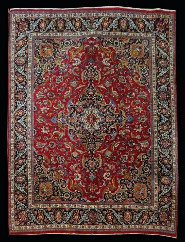 1316 PERSIAN VINTAGE MASHAD SADEGHI 10.1 X 12.8