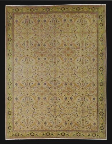 1388 TURKISH VINTAGE HEREKE WOOL 10 X 14.6
