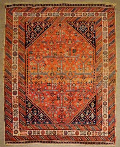 1621 PERSIAN ANTIQUE Afshar 4.1 X  5.8