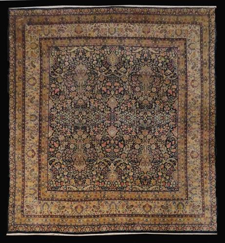 1975 PERSIAN ANTIQUE KERMAN 11.8 X  13