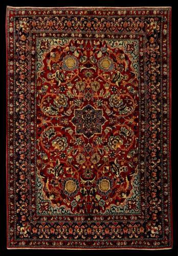 2044 PERSIAN VINTAGE NAIN TUDESH 3.6 X 4.10