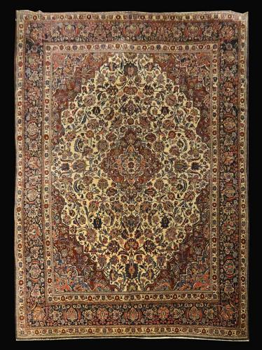 2295 PERSIAN ANTIQUE KAZVIN 9.8 X 12.8