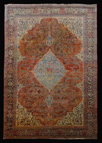 2391 PERSIAN ANTIQUE FARAHAN 8.4 X 12.2.