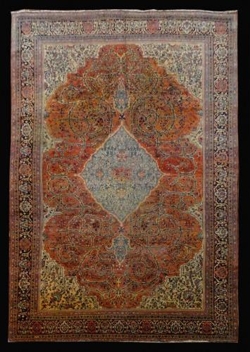 2391 PERSIAN ANTIQUE FARAHAN 8.4 X 12.2.