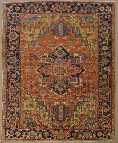 2473 PERSIAN VINTAGE HERIZ 7.1 X 9.3