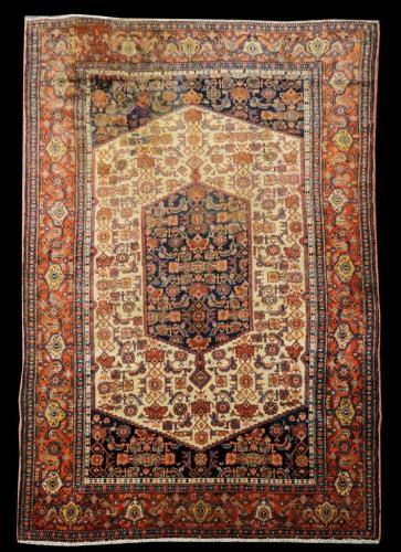 2568 PERSIAN ANTIQUE SENEH 4.1 X  6.5