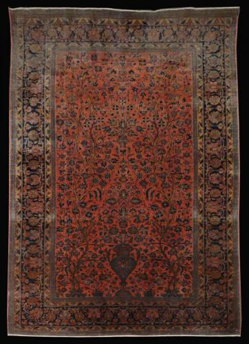 2572 PERSIAN ANTIQUE KASHAN 4.3 X 6.5