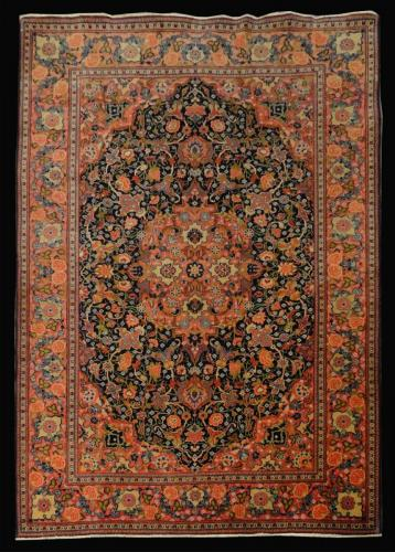PERSIAN ANTIQUE KASHAN SUFF 4.6 X  6.8